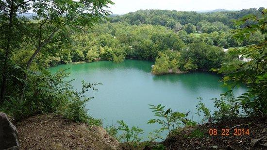 Ijams Nature Center : View over quarry