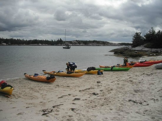 East Coast Outfitters Sea Kayaking: rolling up on a  deserted island .  beautiful  sandy beach...