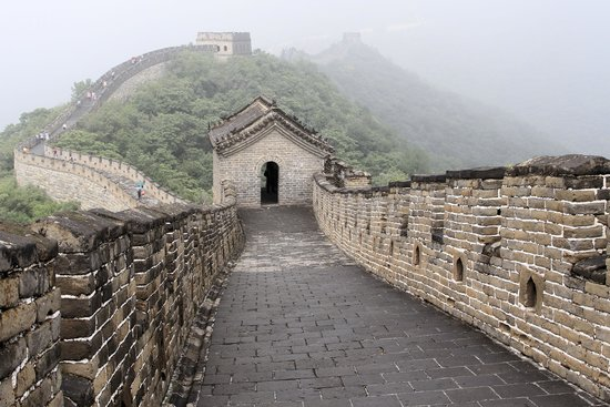 Gran Muralla China en Mutianyu: The Great Wall through the fog!