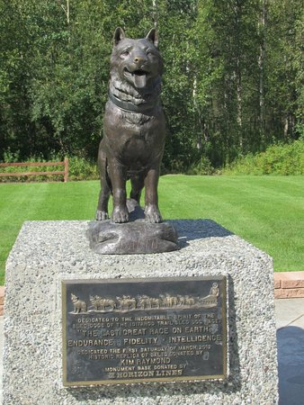 Iditarod Headquarters: The Last Great Dog Race - monument