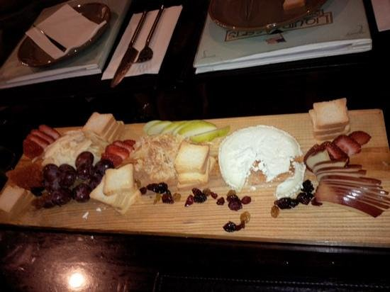 Liquid Assets : The cheese board was an excellent, light app with our wine!