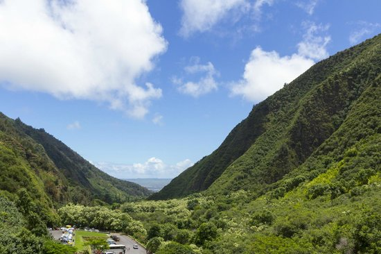 Iao Valley State Monument: View back towards the ocean from the end of the trail
