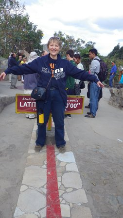 Hotel La Cartuja: On the Equator. Great trip!