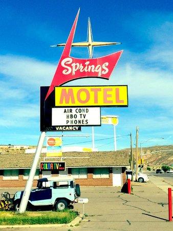 Springs Motel: Original Sign