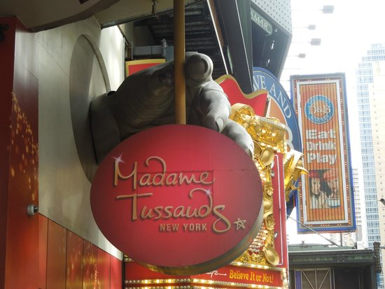 Madame Tussauds New York : La entrada a Madame Tussauds