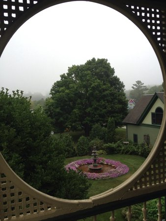 "Habberstad House: A view from the ""Rose Room"" balcony"