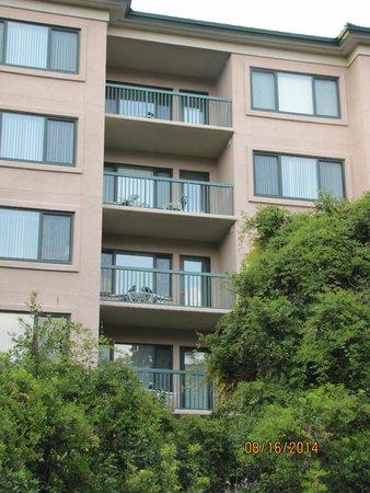 Waterside by Spinnaker Resorts: building from the bridge