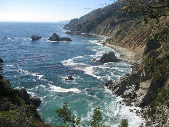Julia Pfeiffer Burns State Park : The sea below