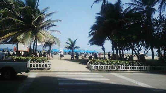 Hotel Cartagena Plaza : desde la puerta del hotel