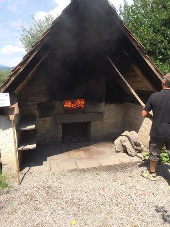 Black Forest Open Air Museum Vogtsbauernhof: wood fired pizza oven