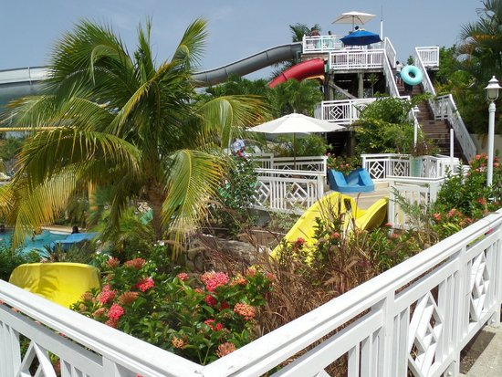 Beaches Ocho Rios Resort & Golf Club : View of the water park area