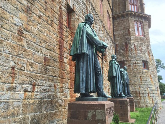Burg Hohenzollern: after you exit the tunnel