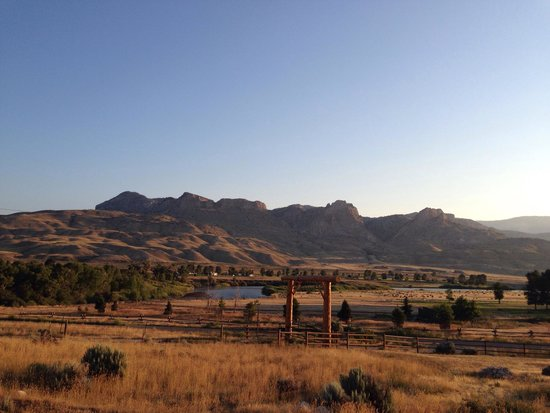 Schmalz's Red Pole Ranch and Motel: The view from our cabin.  August 2014.  Better than any postcard!