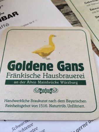 Goldene Gans - Fränkischer Biergarten: coaster