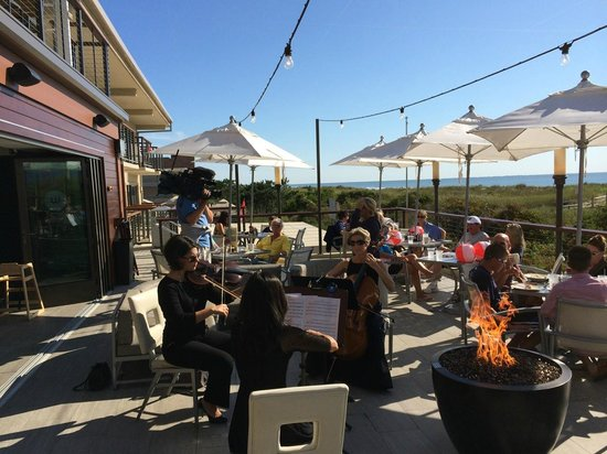 The Windrift Restaurant: Bay Atlantic Symphony String Trio Serenading the Guests