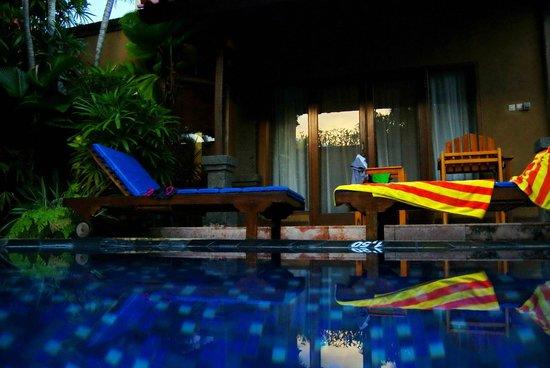 Parigata Villas Resort : Внутренний сад с бассейном