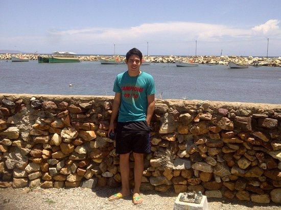 La Posada del Capitan Henry: alli luego de este bajo muro veras el mar y la costa cerrada con muros de piedras para la pesca