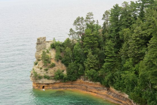 Miners Castle Rock: Miners Castle from first Overlook Pictured Rock NLS August 2014 IMG_9959