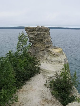 Miners Castle Rock: Miners Castle from the closest Overlook Platform Picture Rocks NLS August 2014 IMG_9964