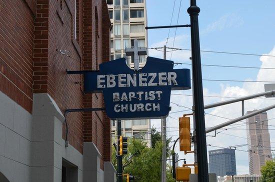 Ebenezer Baptist Church of Atlanta: Original Sign Above the Entrance