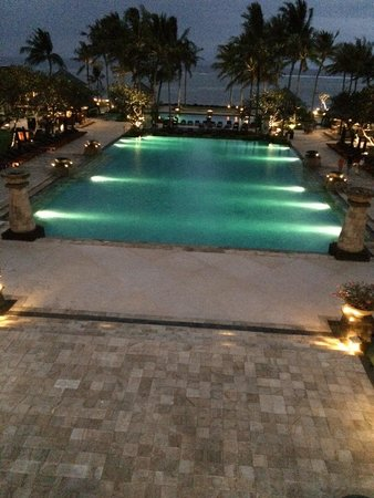 Conrad Bali: View from the lobby bar.