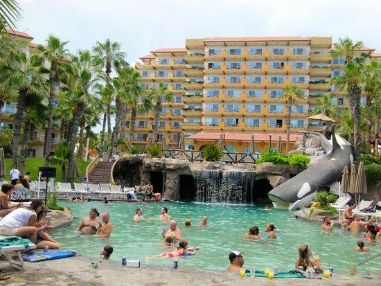 Villa Del Palmar Beach Resort Spa Los Cabos Very Crowded Family Pool