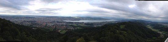 Uetliberg Mountain: Panorama view over Zürich
