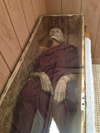 Philippi, WV: Female mummy preserved by Graham Hamrick on display in museum