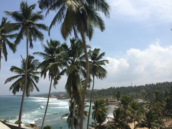 The Leela Kovalam Beach: View from our room.
