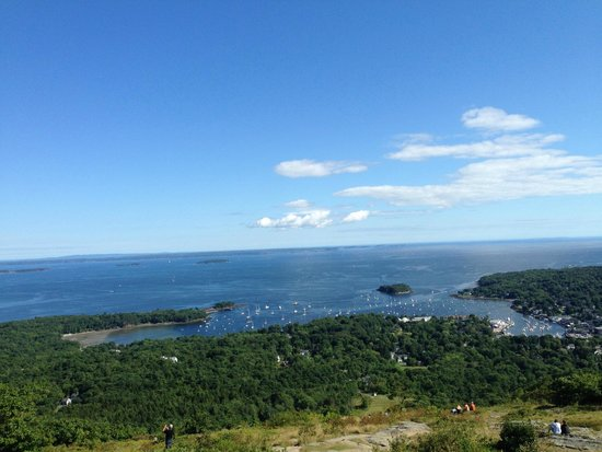 Mount Battie: View from the top of Mt Battie.