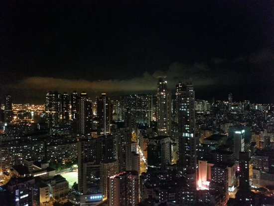 Cordis, Hong Kong: City night view from the hotel