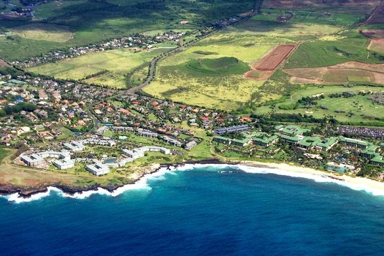 The Point at Poipu: View from the air on our tour