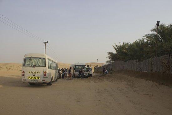 Al Badeyah Eyes Day Tours (ABET) Desert Safari: arrival
