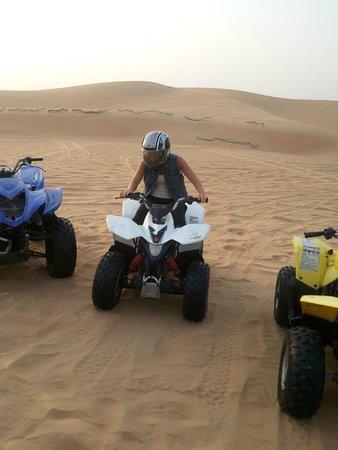 Al Badeyah Eyes Day Tours (ABET) Desert Safari: quad biking