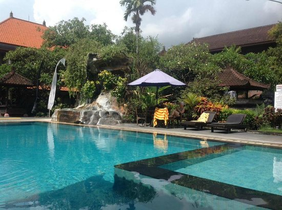 Satriya Cottages: Front swimming pool