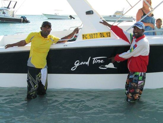Pearle Beach Resort & Spa : Jabe et Zel de chez Good Time excursions en mer