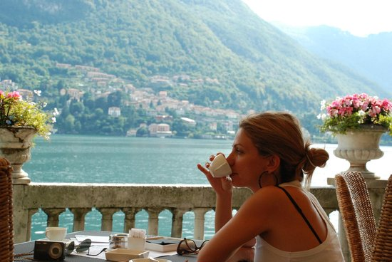 Acquadolce: coffee with a view..