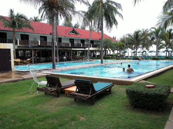 Dolphin Bay Resort : สระว่ายน้ำมองเห็นวิวทะเล