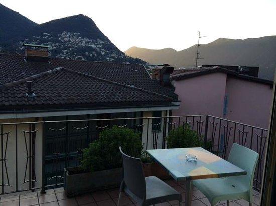 Albergo Acquarello: Balkon von Zimmer 511 in der Morgendämmerung