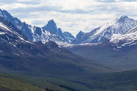 Spectacular mountains of the Tombstone Territorial Park