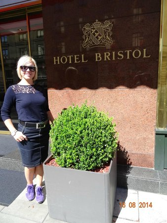 VIEW AT THE ENTRANCE OF HOTEL BRISTOL, AUGUST 2014.
