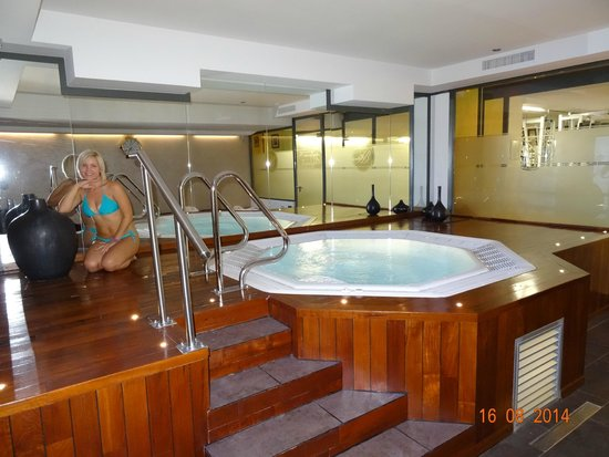 VIEW AT THE SPA OF HOTEL BRISTOL, AUGUST 2014.
