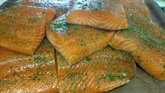Olde Glen Bar and Restaurant : In house cured salmon.