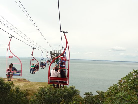 The Needles Battery: View from chairlift
