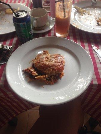 Viva Italia: Luke warm lasagne, no garnish, £6.60