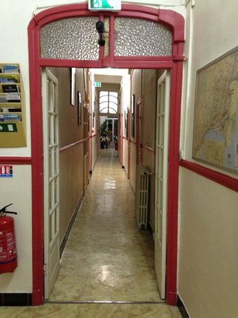 Hotel Cresp : The main hotel corridor - full of character!