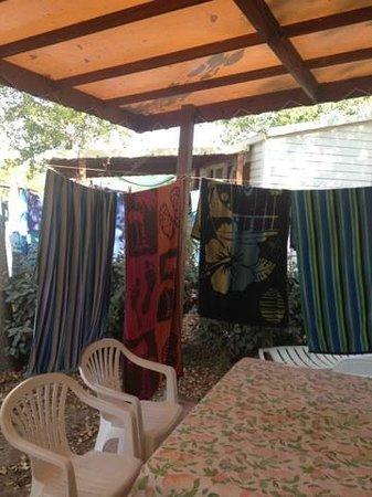 Camping Méditerranée-Plage : terrasse mobilhome