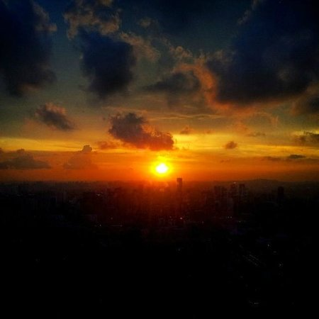 Swissotel The Stamford Singapore: Sunset view from The City Space