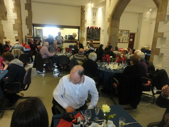 Cafe in the Crypt at Blackburn Cathedral: Father's 80th