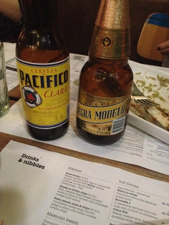 Wahaca White City: mexican beers